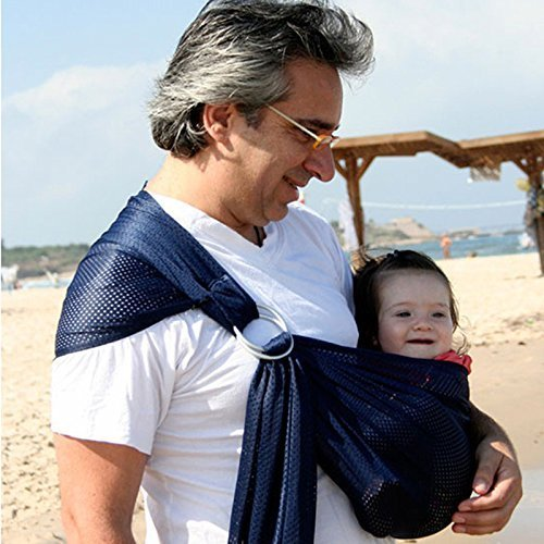 Känguru Baby® Breathable Babytrage mit Polyester und schnell trocken Gewebe-Material Indoor Outdoor Travel Cotton Komfort Sicherheit neugeborenes Kind-Kind-Baby-Riemen-Fördermaschine (deep blue) (Sling Polyester)