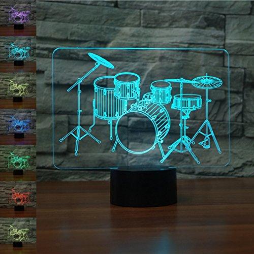 tische Illusion Nachtlicht, jawell 7Farbwechsel Touch Tisch Schreibtisch Lampen mit Acryl Flach und ABS Basis & USB-Kabel für Awesome Geschenk (Toy Story Familie Kostüme)