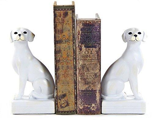 Bellaa Bibliothèque polystone Chien serre-livre Lot, cadeaux de serre-livres pour chien pour professionnel