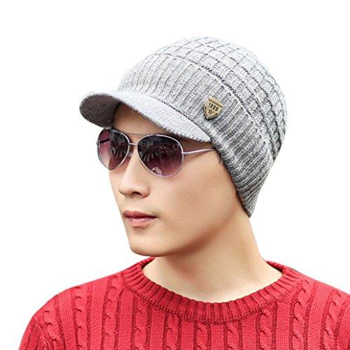 ❤️Amlaiworld Sombrero Punto Lana Invierno Hombres