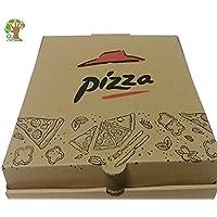 50 cajas PIZZA de embalaje rápido. Color natural. ☆Tamaño: 15,2 cm x 22,8 cm. 6INCH