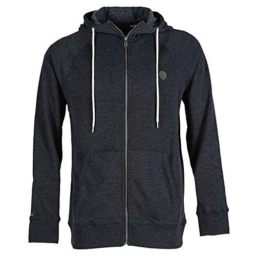 Volcom Herren Ziper Pullover Basic Zip, Black, L, A4831500BLK Twill Hooded Fleece-sweatshirt