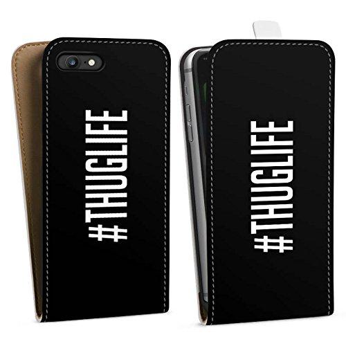 Apple iPhone X Silikon Hülle Case Schutzhülle Thuglife 2Pac Tupac Shakur Hashtag Downflip Tasche weiß