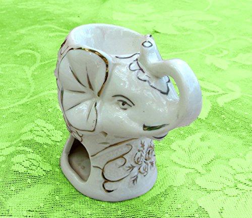 Nuevo. Elefante buena suerte té luz y vela, color favor de la boda y coleccionable