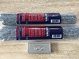 VAUEN 2 x Pfeifenreiniger mit Bürste 50 Konische Reiniger Extra Lang + Metallbox Auenland und Lesepfeifen Reiniger