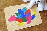 Hölzernes Puzzle spiel Baby Holz Dinosaurier Stegosaurus Spielzeug Montessori pädagogisches Spielwaren spiel Dino kinder Kleinkind holz Baby Geschenk Waldorf Geduldspiel organisches umweltfreundliches Holz Kindspielzeug Stapel spielzeug Lern spielzeug jigsaw Puzzle