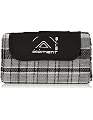 Elementerre NAPAIR - Mana de picnic, color negro/blanco, talla 150 x 125