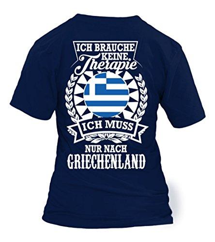 TEEZILY Griechenland Therapie - Limited Edition - Frauen T-Shirt - Marineblau Frauen T-Shirt