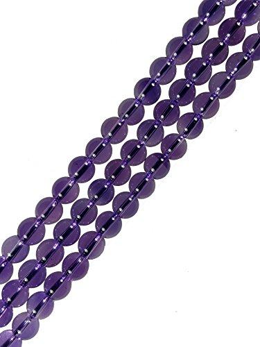 AqBeadsUk Pietra preziosa naturale 6 millimetri ametista Perle rotondi filo perline Gioielli Esecuzione di 15,5 pollici