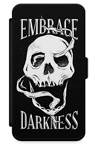 (iPhone 7 Plus, iPhone 8 Plus Case Umfassen Dunkelheit Schädel | Kunstleder Brieftasche Flip Card Slot Cover Kickstand | Tag Der Toten Dia De Muertos Mexikaner Kunst Kostüm)