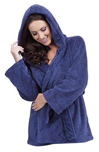 Ladies Hooded Fleece With Added Glitter Mini Wrap Bedjacket Nightwear Loungewear - 51aihibc CL - Ladies Hooded Fleece With Added Glitter Mini Wrap Bedjacket Nightwear Loungewear