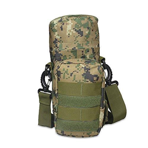 Fjiujin,2L Kleine Militärverpackungsflasche für große und leichte Molle-Flaschentaschen(Color:Jungle Camouflage)