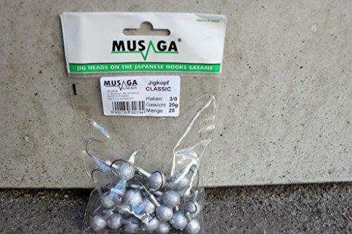 Musaga Jig Hook 2/0 Bulk Pack (25 Classic Jig Heads) – Super Value