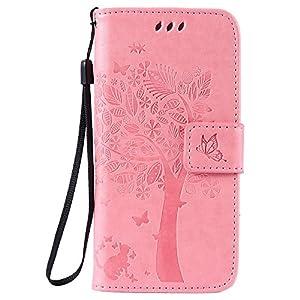 Lomogo iPhone 6S / 6 Hülle Leder, Schutzhülle Brieftasche mit Kartenfach Klappbar Magnetverschluss Stoßfest Kratzfest Handyhülle Case für Apple iPhone6S / iPhone6 –