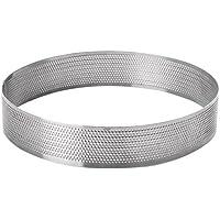 Lacor 68554 Cercle rond perforé, Acier Inoxydable, Gris, 24 cm