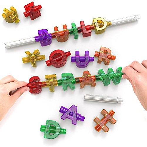 spelly Trinkhalme Interaktives Stroh, mehrfarbig, 12,5x 2,7x 18,5cm