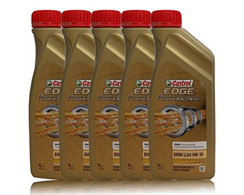 Castrol Edge Professional 0W-30BMW LL04, Longlife 04 Lot de 5 bouteilles de 1 L d'huile moteur pas cher