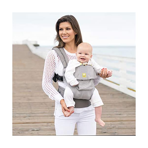 LÍLLÉbaby  Complete Airflow 6-in-1 Baby Carrier, Grey Mist Lillebaby Made from breathable mesh fabric to help keep parent and child cool and comfortable and with 6 carrying positions - Foetal, infant inward, outward, toddler inward, hip, back - The only carrier you'll ever need! Suitable from 3.2- 20kg (birth to approx. 4 years old), providing extended comfortable use for parent and child with no additional infant support required for new-borns - the ergonomic adjustable seat is acknowledged as 'hip-healthy' by the International Hip Dysplasia Institute Unique spacious head support with elasticated straps - soothes infants with gentle lulling motion and provides excellent support as children grow 6