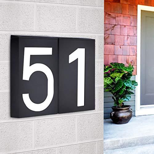 ABONGONE Led Hausnummer Solar Power Digital Tür Wand Solar Licht Adresse Nummer Zeichen Lampe Benutzerdefinierte Street Number Plaque