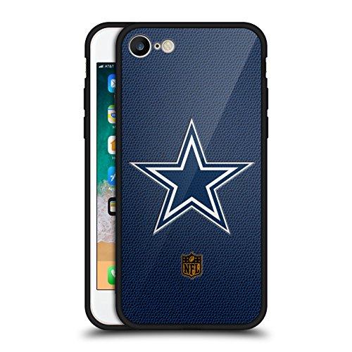 Head Case Designs Offizielle NFL Fussball Dallas Cowboys Logo Schwarz Rückseiten Hülle aus Hybrid Glass für iPhone 7 / iPhone 8