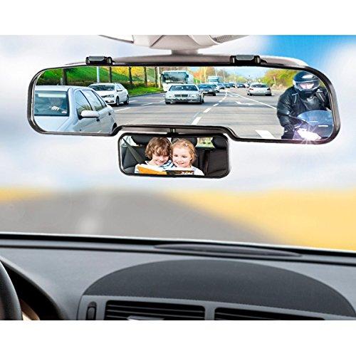 Rétroviseur 30 CM Universel Auto Grand Angle Double - Intérieur et Extérieur - indiscount ®