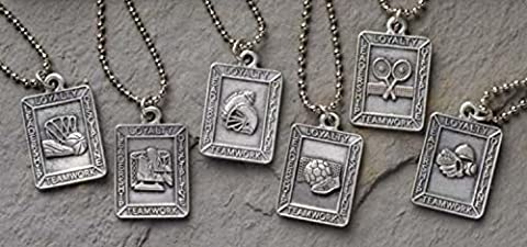 Club Pack of 24 Christian Sports Medal Pendants - 26
