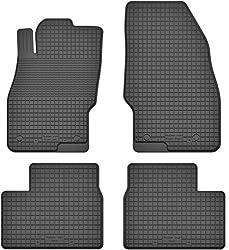 KO-RUBBERMAT Gummimatten Fußmatten 1.5 cm Rand geeignet zur OPEL Corsa D, E (2006-2019) ideal angepasst 4 -Teile EIN Set