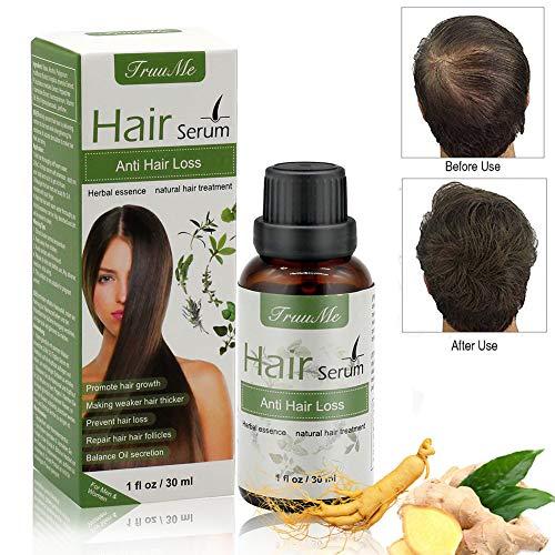 Anti Chute Cheveux, Hair Serum, Croissance Cheveux Huile Essentielle, antichutedecheveuxhomme, Sérum capillaire naturel à base de plantes, pour les cheveux clairsemés, épaississement et produit de croissance, Sérum rapide pour la croissance des cheveux pour hommes et femmes (30ml)