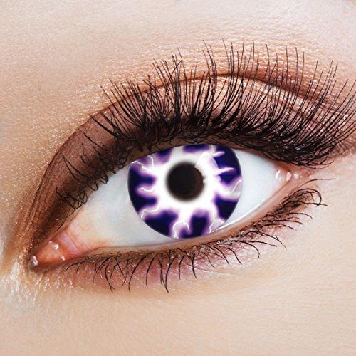 aricona Kontaktlinsen Farblinsen Halloween Kontaktlinsen farbig zum Horror Kostüm / Hexenkostüm