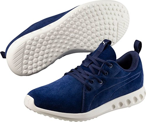 Puma Unisex-Erwachsene Carson 2 Molded Suede Outdoor Fitnessschuhe Blue Depths-Whisper White