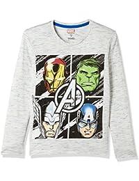 Avengers Boys' Plain Regular Fit Cotton Long Sleeve Top