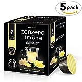 King Cup - Zenzero e Limone - 5 Confezioni da 10 Capsule Compatibili Nescafè* Dolce Gusto* (50 capsule)