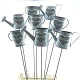 Metall Kräuterschilder mit 8 verschiedenen Gewürznamen. 8 Stück