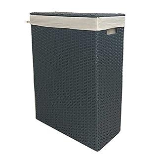 animal-design Nischenwäschekorb grau aus Kunststoff-Geflecht mit waschbarem Stoffeinsatz, Größe:Größe 2