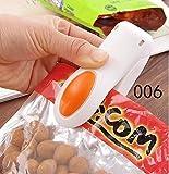 LanLan Mini Heat Sealing Machine Impulse Sealer Seal Packing Plastic Bag Kit(Beige)