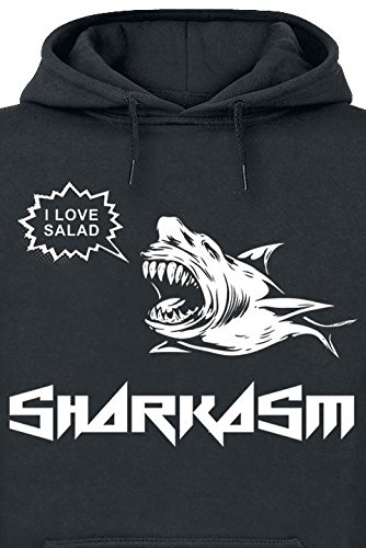 Sharkasm Sweat à capuche noir Noir