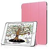 HBorna Hülle für iPad 9.7 Zoll 2018 2017, Smart Cover Case mit [Auto Schlaf/Wach] Dünn Superleicht Schutzhülle Hülle Tasche Standfunktion für New Apple iPad 9,7 2018/2017, Rosa
