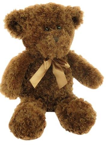 Sweety Toys 0258 XXL Teddy Bär Kuschelbär,chocobraun,Schlenkerbär, 60cm Curly lockiger Plüsch,super süss,softweich Hammerpreis