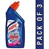 Harpic Power Plus Disinfectant Toilet Cleaner, Rose, 500ml (Pack of 3)