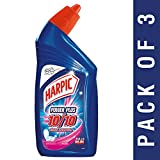 #4: Harpic Power Plus Disinfectant Toilet Cleaner, Rose, 500ml (Pack of 3)