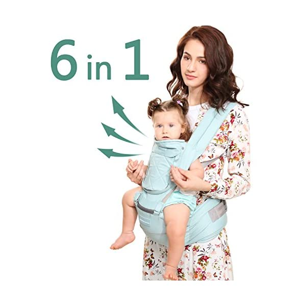 "Windsleeping Toddler Baby Carrier with Hood for All Seasons,6-in-1 Ways to Carry,Hip Seat Carrier Front and Back,Silicone Skid-Proof Seat Surface,Suit for Infant,Toddler,Kids,Newborn - Blue Windsleeping [Specification] - Watch more detail video please click: https://www.amazon.com/dp/B07N3V4SDL?ref=dp_vse_rvc0.Size of the child carrier backpack is: L 29.4*H 27.3*W 19.2CM(11.5""*10.7""*7.5""). Weight: 1.05KG(2.31lbs). Max load-bearing: Up to 40 pounds/ 20Kg. Suitable 3-36 months age children [Breathable Natural Latex & Cotton] - Made of natural latex, breathable cotton, natural latex can inhibit bacteria and allergens effectively, Unique breathable pinhole design can dissipate body heat and moisture, make comfort for both you and baby [Portable Split Design & 6 Carrier Ways ] - The waist stool of the baby travel carrier could be detached from upper strap, makes the waist stool can be used independently, can easily use when traveling. More than 6 ways to carrier: front inward, front outward, hip or back carry 1"