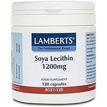 Lecitina de Soja 120 cápsulas de 1200 mg de Lamberts