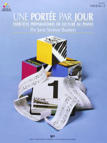 Bastien Jane Methode Piano Une Portee Par Jour Niveau 2 Pf Book French