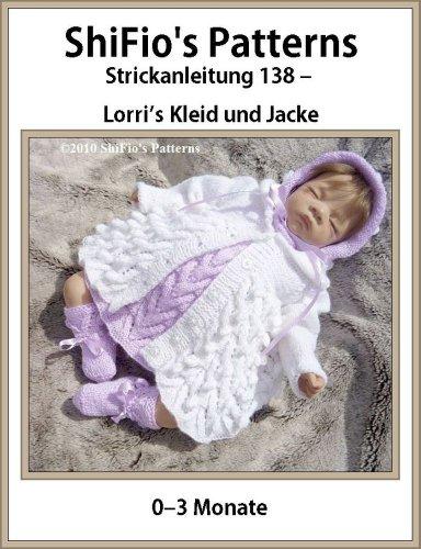 Strickanleitung  - KP138 - Babykleid, Jacke, Hut und Booties
