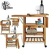 Kesser® Bambus Küchenwagen...