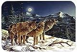 Caroline tesoros del PTW2041LCB lobo Lobos llorando en la luna de cristal tabla de cortar,...