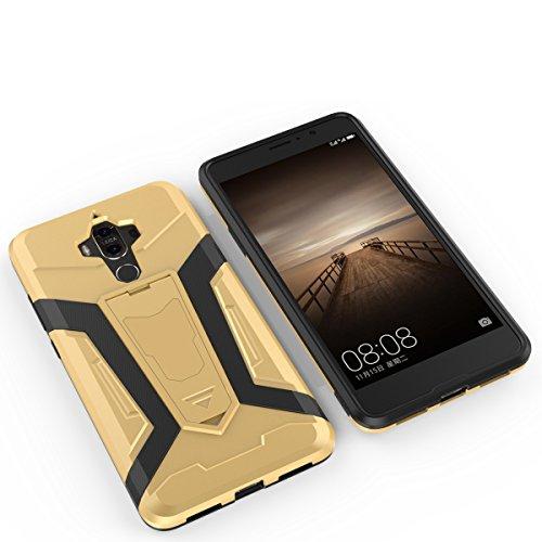 Huawei Mate9 Hülle,EVERGREENBUYING Abnehmbare Hybrid Schein MHA-AL00 Tasche Ultra-dünne Schutzhülle Case Cover mit Ständer Etui für HUAWEI Mate 9 Braun Schwarz