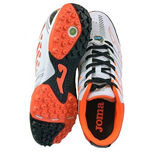 Chaussures de Futsal JOMA FREE 1,0 502 TURF-Blanc Orange Bianco