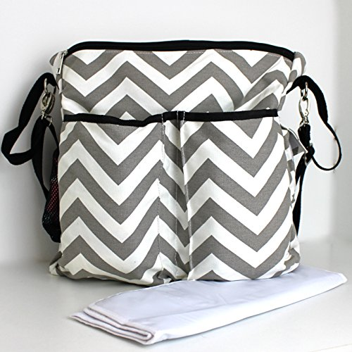 large-chevron-pattern-stylish-nappy-bag-with-changing-mat-option-to-personalise