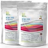 MSM (500 tablets a 1000 mg vegan), Ultra High Dose, Big Pack XL, Methylsulfonylmethane 99.9% pure, pharma quality produced in Germany according to ISO and GMP standard